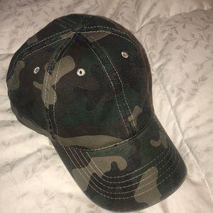 Camo print baseball hat